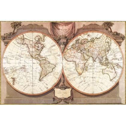 Χάρτης του Κόσμου -Γκραβούρα