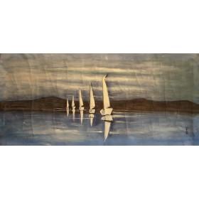 Μπέτυ - Ιστιοπλόοι στο Αιγαίο - 50x120 cm (ΧΩΡΙΣ ΤΕΛΑΡΟ)
