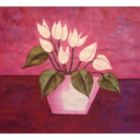 Νικολάι Σολακόφ - Η ροζ μέρα 2 - 80x80 cm (ΧΩΡΙΣ ΤΕΛΑΡΟ)