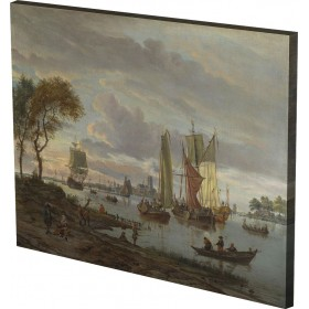 Abraham Storck - A River View