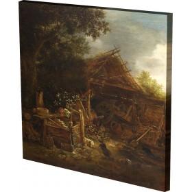 Isack van Ostade - A Farmyard