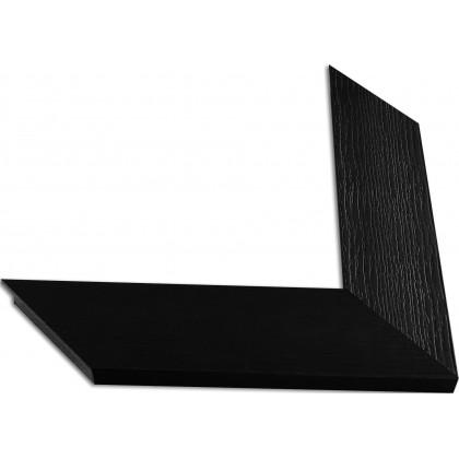 Κορνίζα Μαύρη ανάγλυφη πάχους 7,3cm