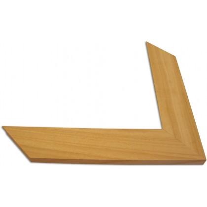 Κορνίζα Άβαφο φυσικό ξύλο πάχους 5,5cm