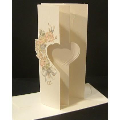Ανάγλυφο Προσκλητήριο Γάμου 9.5x21cm