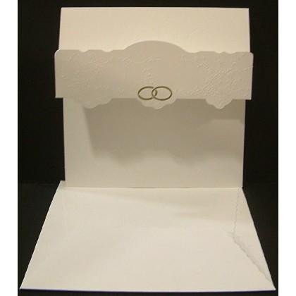 Ανάγλυφο Προσκλητήριο Γάμου 16x16cm